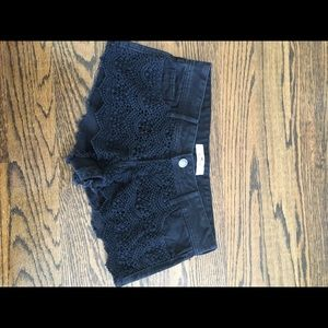 Hollister Black Lace JeanShorts